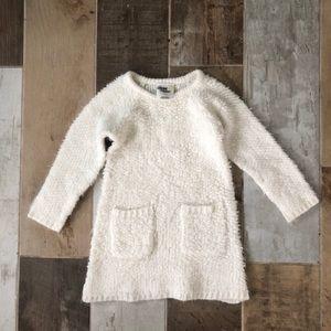 OshKosh Long Sleeve White Sweater Dress w/ pocket